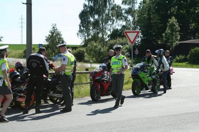 Kontrola motocyklistů