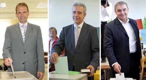 Dieter Althaus, Stanislaw Tillich a Peter Müller