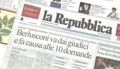 Italský tisk o Silviu Berlusconim