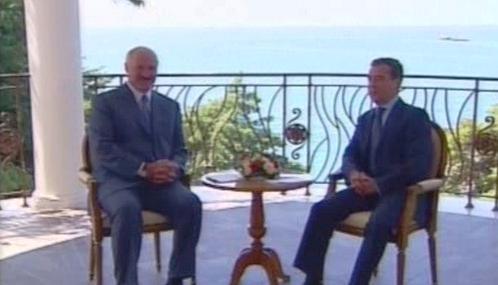 Dmitrij Medveděv a Alexandr Lukašenko