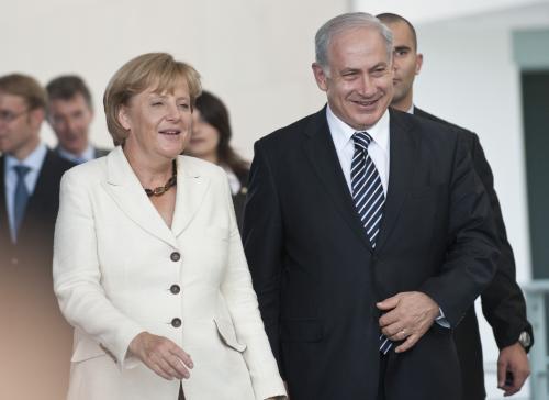 Angela Merkelová a Benjamin Netanjahu