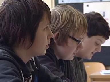 Žáci při výuce