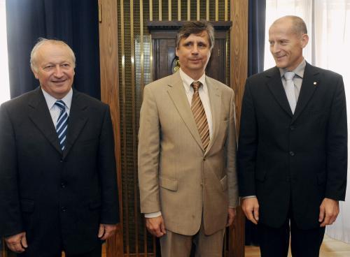 Zdeněk Tůma, Jan Fischer a Eduard Janota