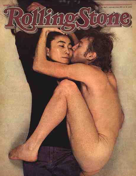 Obálka Rolling Stone s Johnem Lenonem a Yoko Ono