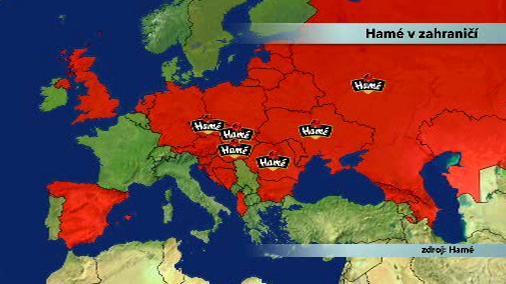 Dosah firmy Hamé v Evropě