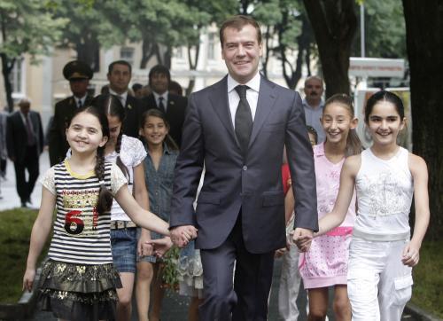 Medveděv a jihoosetské děti
