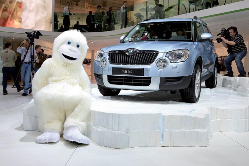 Škoda Yeti na autosalonu