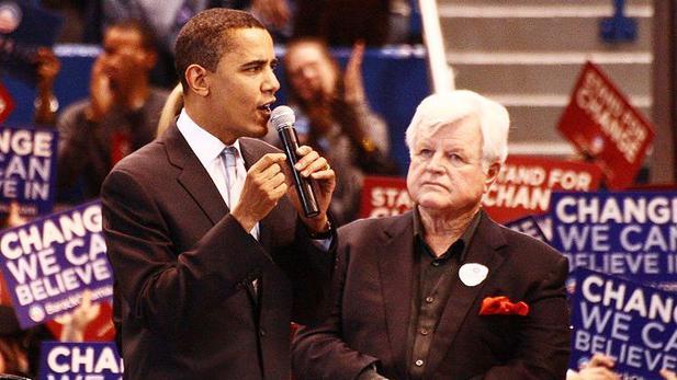 Barack Obama a Edward Kennedy