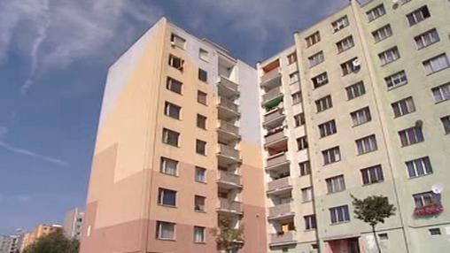 Panelové domy v Chebu