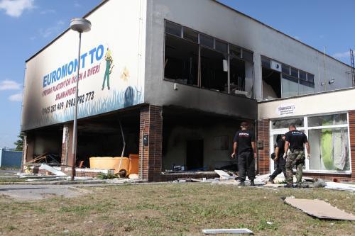 Ve slovenských Topoľčanech vybuchla bomba