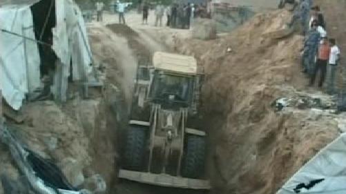 Výbuch tunelu v Gaze