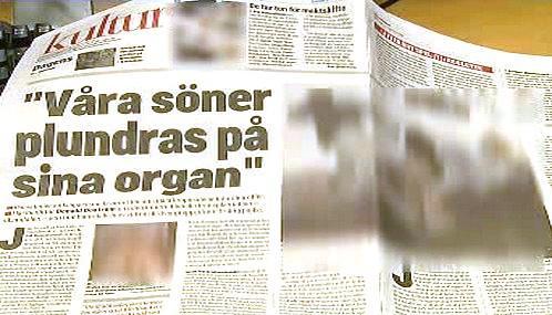 Článek deníku Aftonbladet
