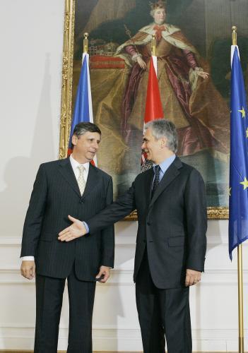 Jan Fischer a Werner Faymann