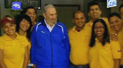 Fidel Castro s venezuelskými studenty