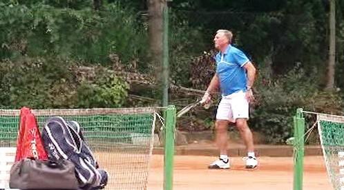 Mirek Topolánek na tenise