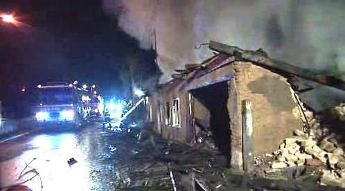 Požár ve Vítkově na Opavsku