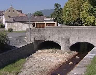 Most přes potok Bouřlivec v Lahošti