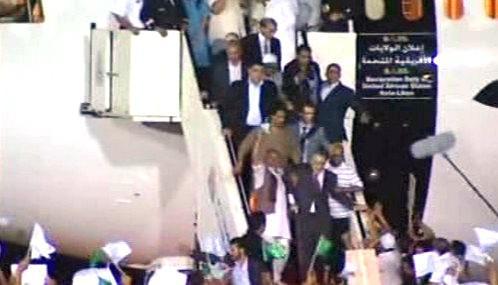 Muhammad Midžrahí po přistání v Tripolisu
