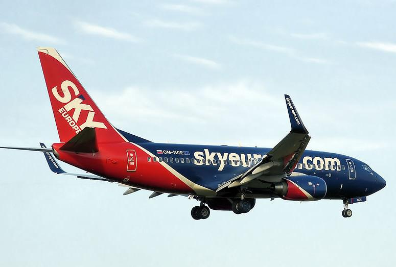 Letadlo společnosti SkyEurope