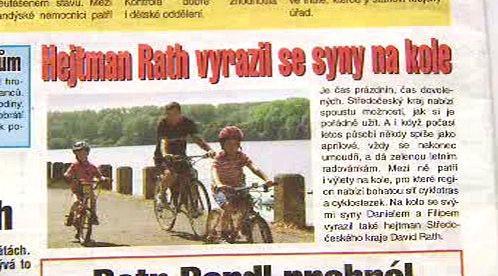 Rath vyrazil se syny na kolo