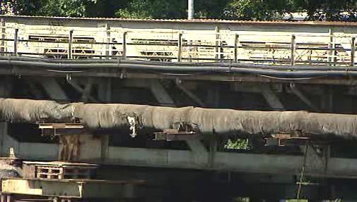 Současný stav mostu ve Staré Boleslavi