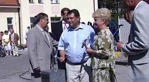 Jiří Paroubek a Milada Emmerová v Klatovech