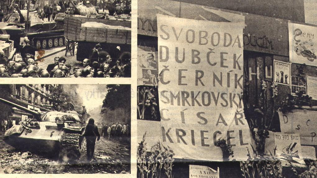 Novinové fotografie ze srpna 1968