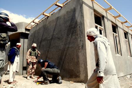 Rekonstruovaná dívčí škola v Afghánistánu