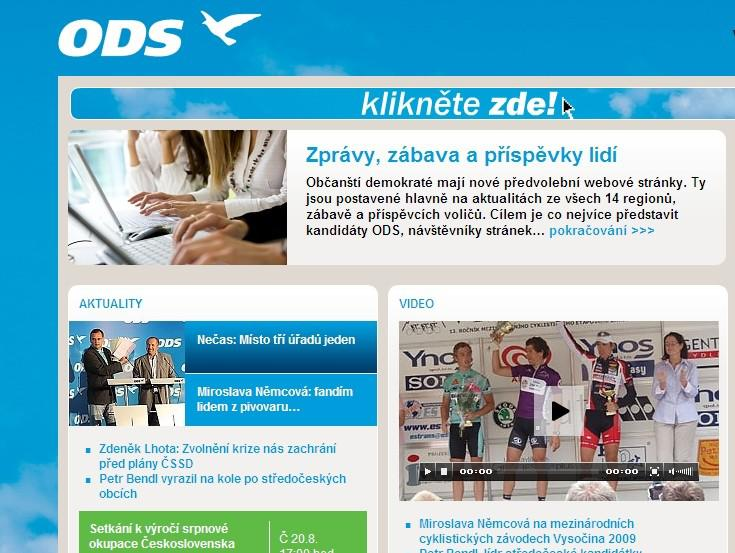 Internetové stránky ODS