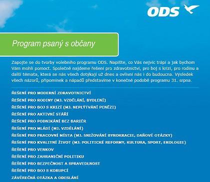 Nový web ODS