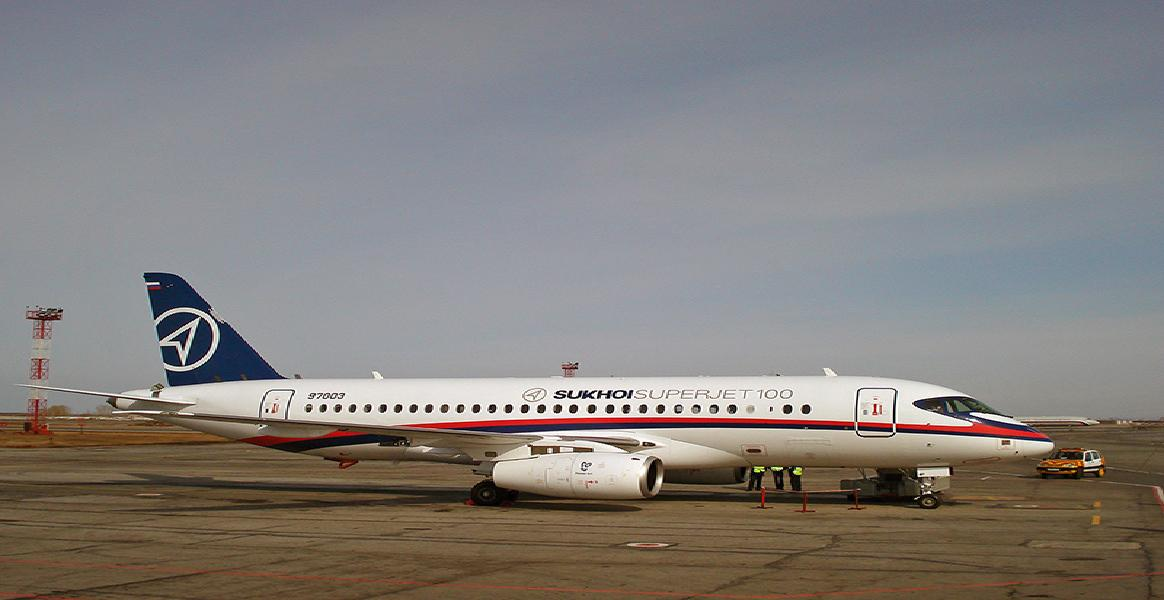 Ruský letoun Suchoj SuperJet 100