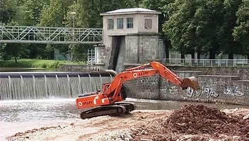 Stavba přístaviště v Českých Budějovicích