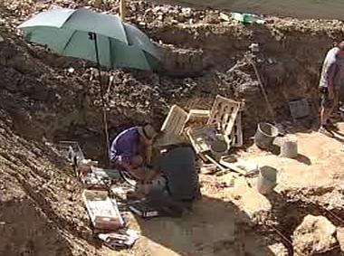 Paleontologický výzku v Ovčíně