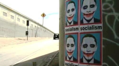 Plakáty proti Obamovi