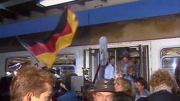 Vlak s německými uprchlíky