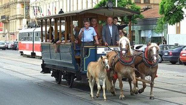 Koňská tramvaj v Brně