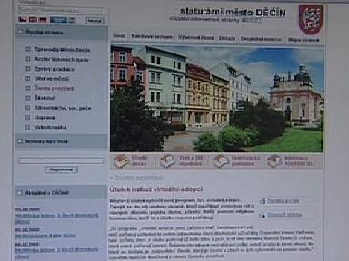 Informační stránka děčínské radnice