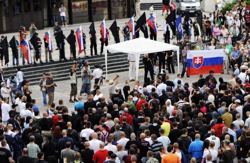 Protestní akce nacionalistů v Prešově