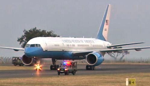 Letadlo ministryně zahraničí USA