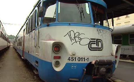 Počmáraný vlak