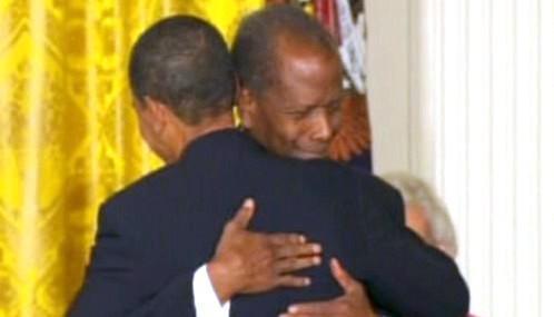 Sidney Poitier a Barack Obama