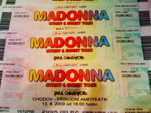 Lístky na koncert