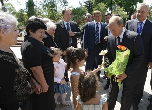 Vladimir Putin na návštěvě Abcházie