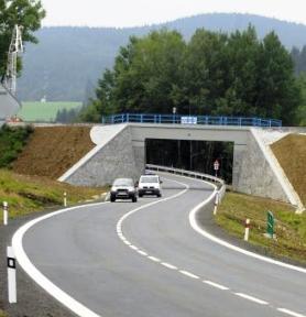 Nový úsek silnice