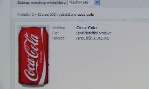 Profil firmy Coca-Cola na Facebooku
