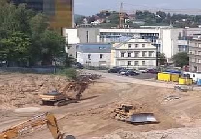 Staveniště budoucího nákupního centra v Liberci