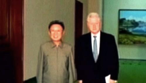 Kim Čong-il a Bill Clinton