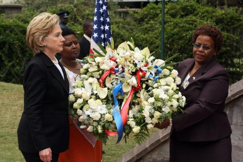 Hillary Clintonová v Keni