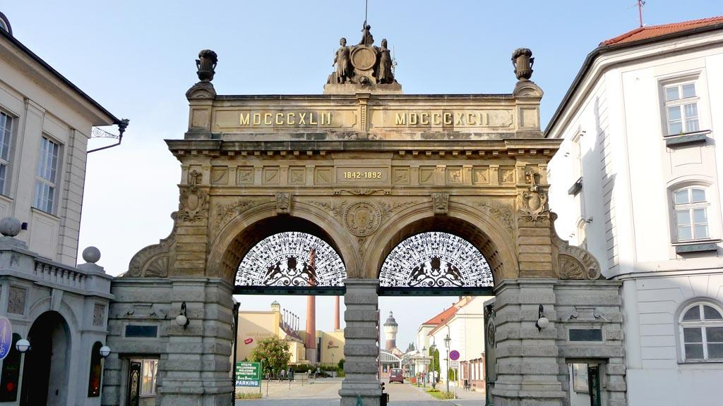 Brána pivovaru Plzeň