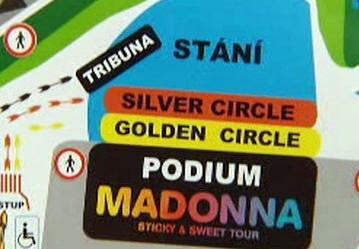 Přípravy na koncert Madonny